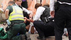 Paramedics in London