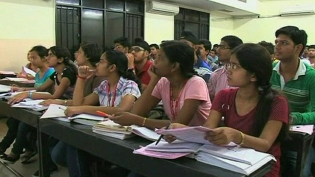 Indian students studying in Kota