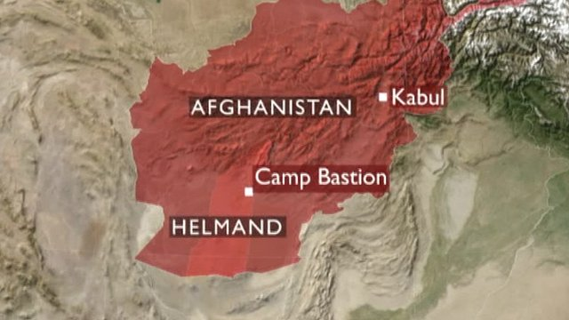 Map showing Camp Bastion