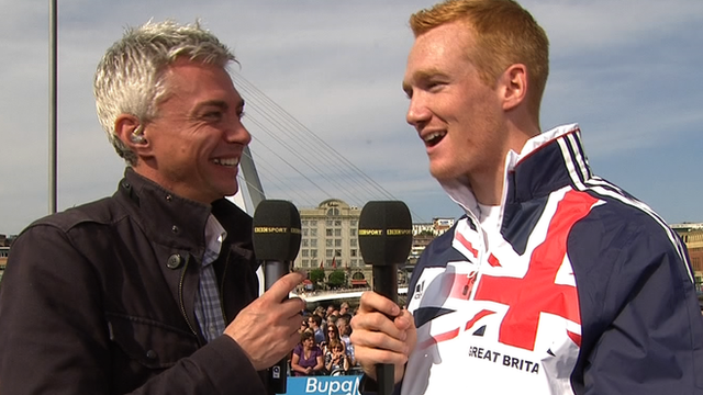 Greg Rutherford talks to BBC Sport's Jonathan Edwards