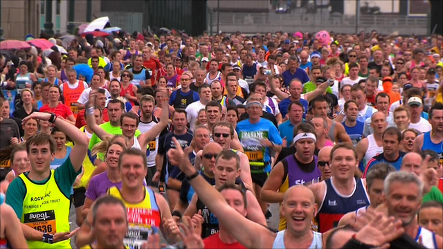 Runners at the 2012 Great North Run