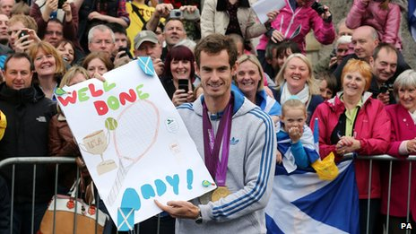 Andy Murray in his hometown