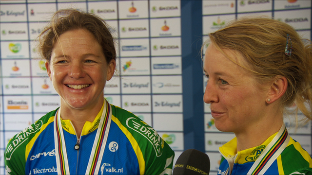 Sharon Laws and Emma Pooley
