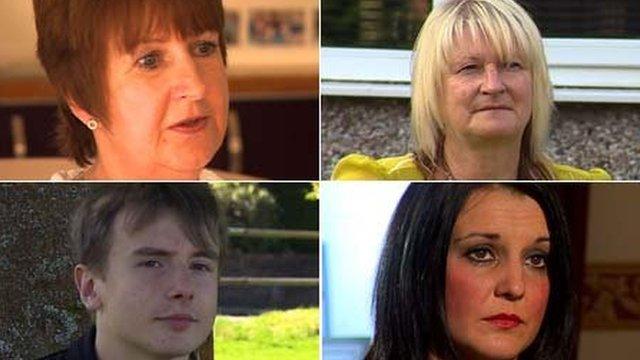 Clockwise from top left : Mavis Breslin, Lynette Powell, Hayley Phillips and Alex Jenkins