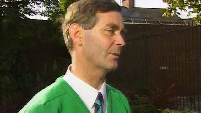 Donegal manager Brian McEniff speaking in 1992