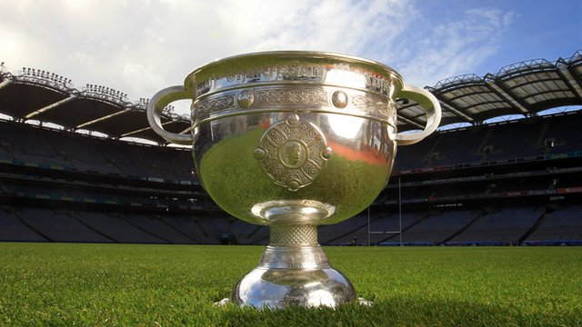 Sam Maguire Cup at Croke Park