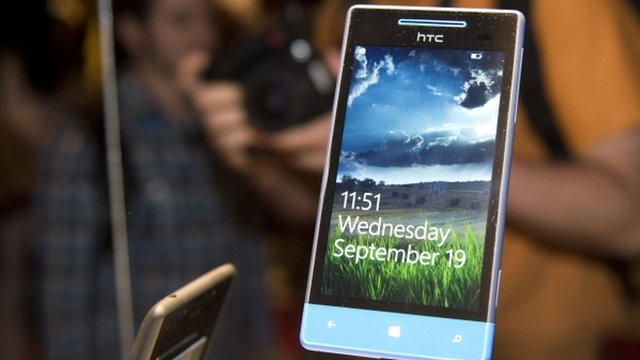 One of HTC's new phones that run the Windows operating system