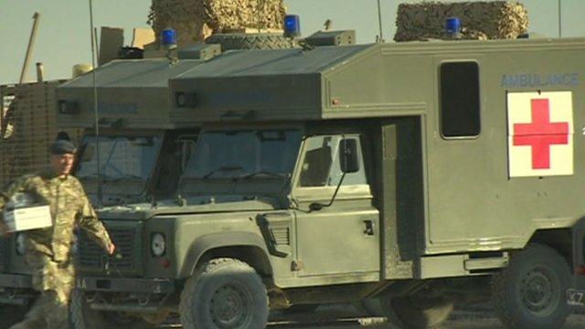 An ambulance at Camp Bastion