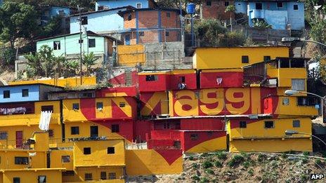 Caracas shantytown, 2008