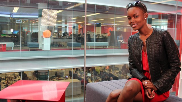 Flaviana Matata visiting the BBC's New Broadcasting House, London Photo: Manuel Toledo, BBC Africa