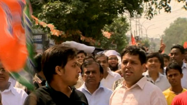 Protesters on the streets of Delhi