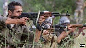 PKK fighters (file pic)