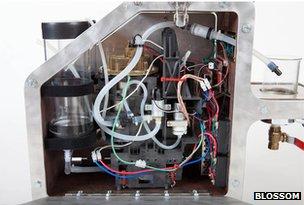 Inside of Blossom Coffee Machine