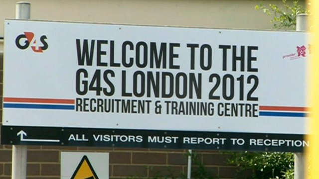 Sign outside the G4S London 2012 training centre