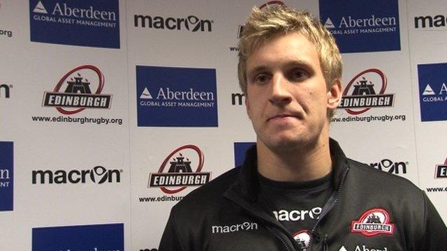 Edinburgh full-back Tom Brown