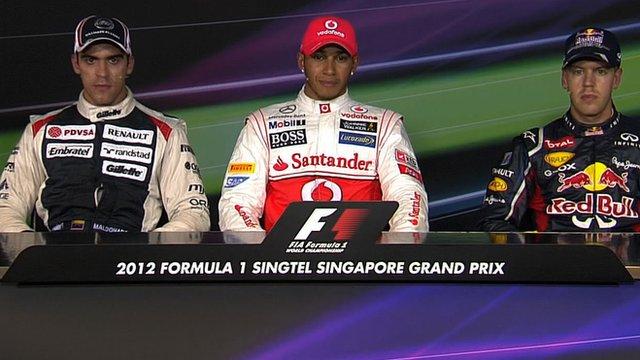 Pastor Maldonado, Lewis Hamilton, Sebastian Vettel
