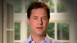 The Lib Dem party political broadcast in which Nick Clegg apologises