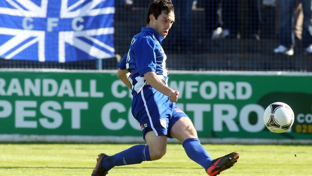 Michael Hegarty scores for Coleraine