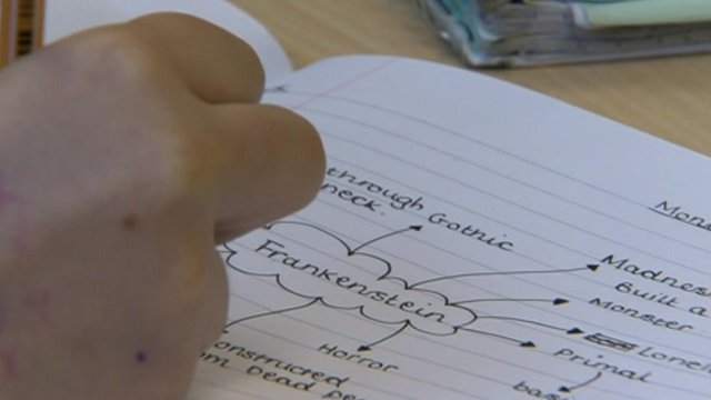 Exercise book showing school work