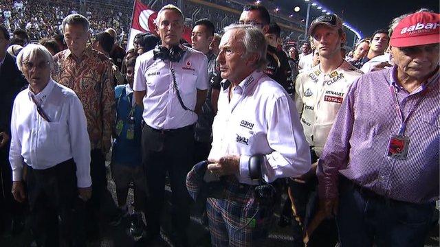 F1 grid pays tribute to Sid Watkins