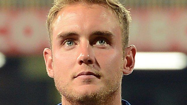 England's Twenty20 captain Stuart Broad