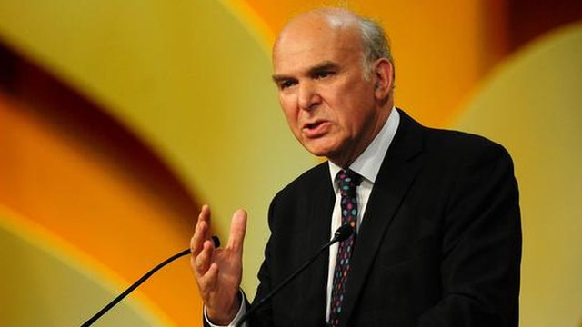 Vince Cable addresses the 2011 Liberal Democrat Party conference