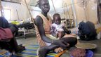 A mother and baby at Aweil Hospital in South Sudan