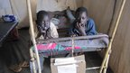 Children on a bed in Aweil Hospital, South Sudan
