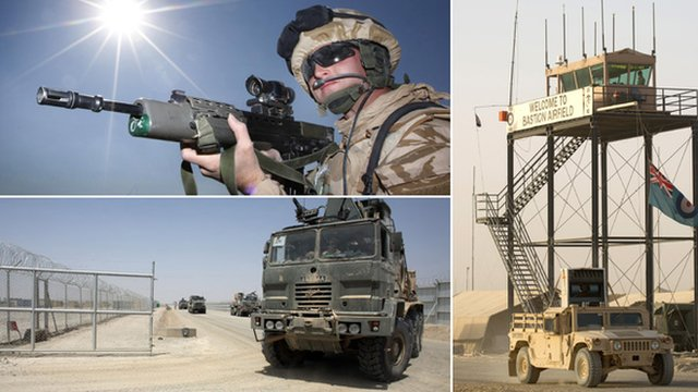Images of security at Camp Bastion