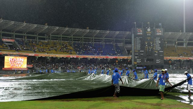 Rains stops play in Colombo