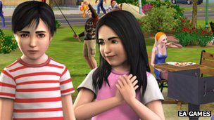 A scene from The Sims 3