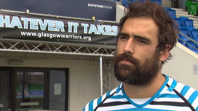 Glasgow Warriors number eight Josh Strauss