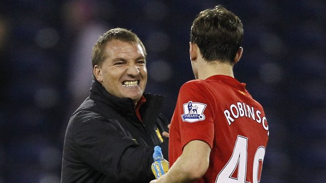 Brendan Rodgers with Jack Robinson