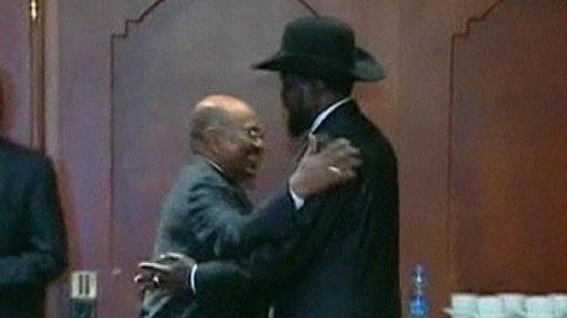 Sudan's President Omar al-Bashir and South Sudan's President Salva Kiir