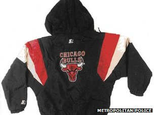 A discarded Chicago Bulls jacket was