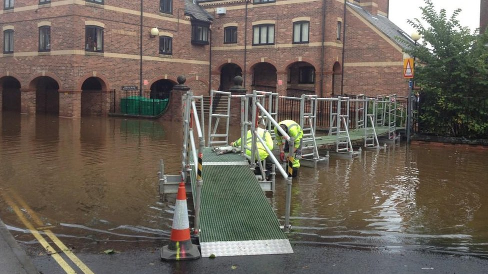 bbc news in pictures tackling york floods