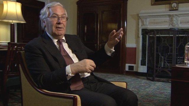 Governor of the Bank of England Sir Mervyn King