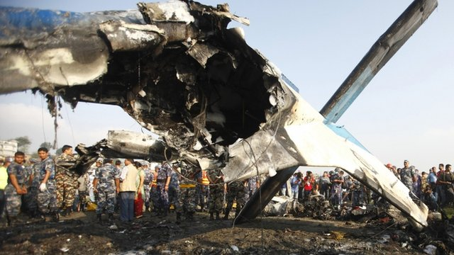 The wreckage of the plane