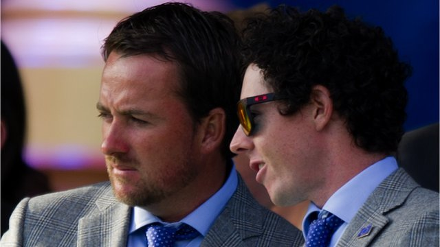 Graeme McDowell and Rory McIlroy at the Ryder Cup opening ceremony