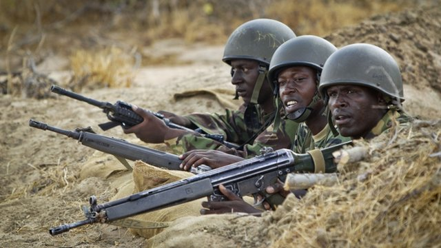 Kenyan troops in Somalia