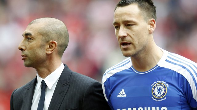 Chelsea manager Roberto di Matteo and John Terry
