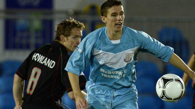 Ballymena United's Gary Thompson