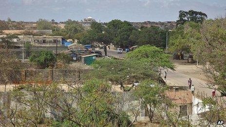 Kismayo, Somalia, pictured on September 28, 2012.