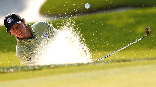 Rory McIlroy in action at Medinah