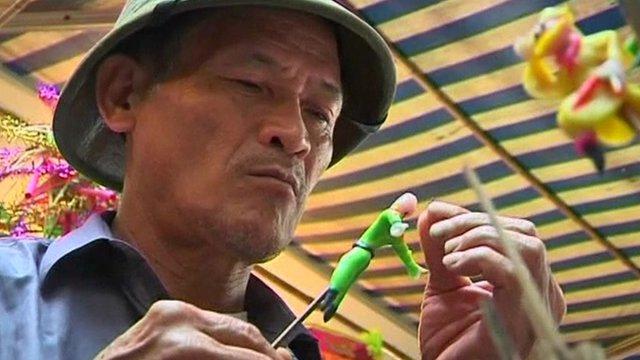 Man making toys