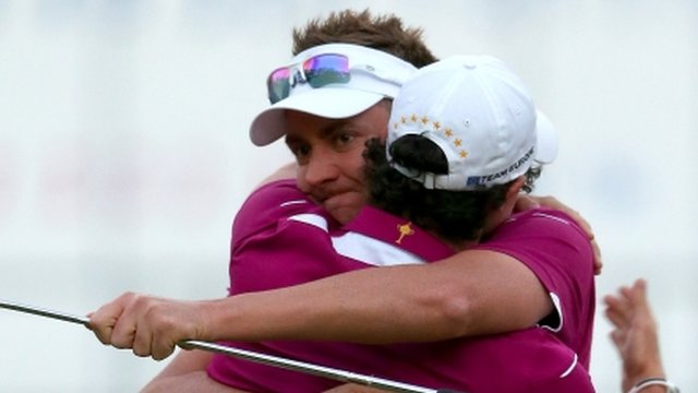 Ian Poulter and Rory McIlroy