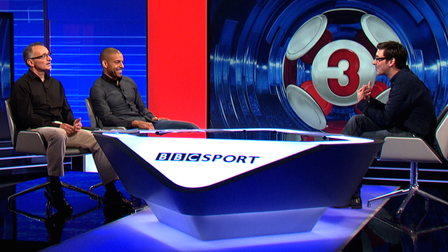 Pat Nevin and Steven Reid with host Colin Murray