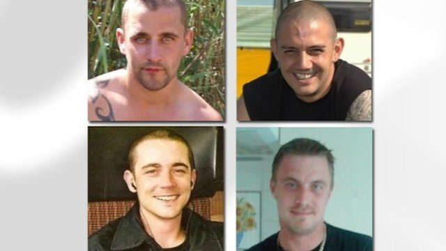Pictures of four young men