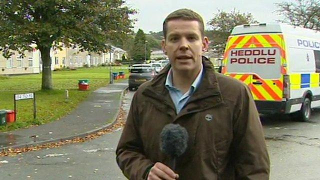 Reporter at scene