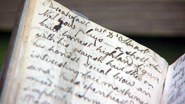 Diary entry written by Robert Burns
